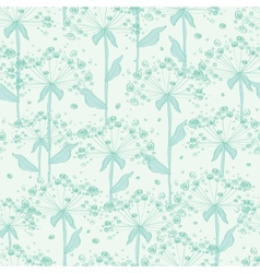 Summer line art dandelions seamless pattern vector