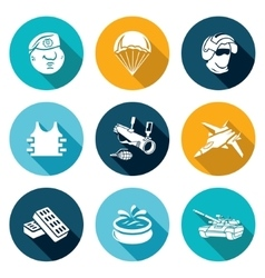 Russian special forces icons set vector