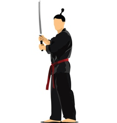 Samurai sword vector