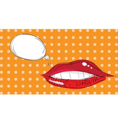 Lips pop art vector