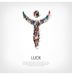 Luck people sign 3d vector