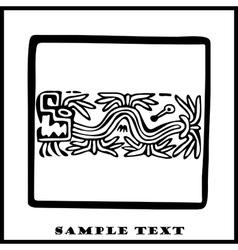 Aztec ethnic motif pattern vector