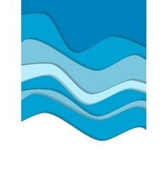Blue water curve waves background vector