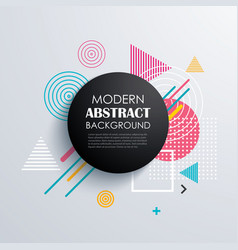 Abstract circle geometric pattern design and vector