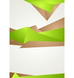 Abstract green brown shapes modern flyer design vector image