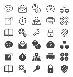 Application icons thin vector image vector image