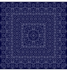 Blue bandana with white ornament vector