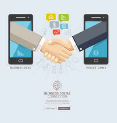 business social connection technology conceptual vector image vector image