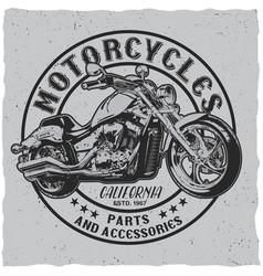 california motorcycles poster vector image vector image