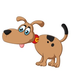 Cartoon dog silly face vector image vector image