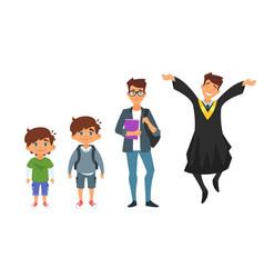 character from kindergarten to graduate vector image