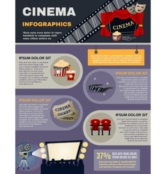 Cinema infographics set vector