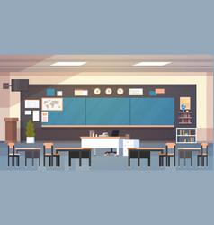 classroom interior empty school class with board vector image