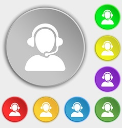 Customer support icon sign symbol on eight flat vector