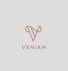 elegant line curve logotype premium letter vector image vector image