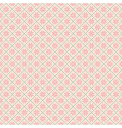 Floral seamless pattern with lines tiling vector