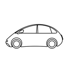 futuristic car vehicle smart autonomous side view vector image