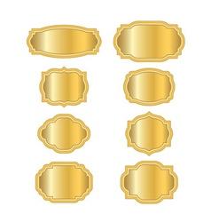Gold frames golden style vector