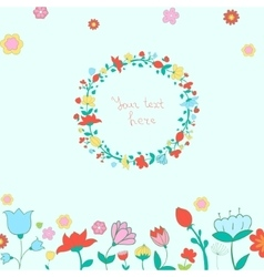 Heart and flowers vector
