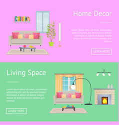 Home decor and living space vector