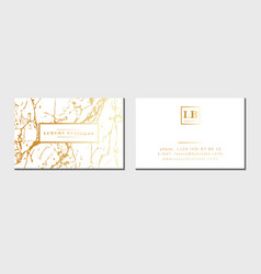 luxury business cards template banner and vector image vector image