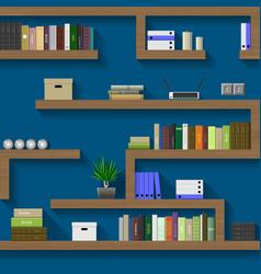 Maze of shelves vector