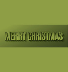 merry christmas banner design background vector image