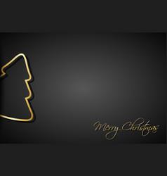 modern golden christmas trees on black background vector image