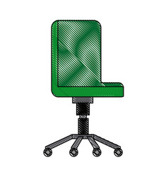 Office chair comfort seat wheel furniture vector