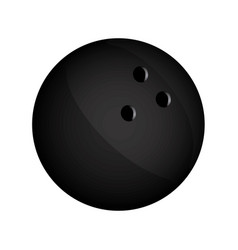 realistic silhouette bowling ball icon sport vector image vector image