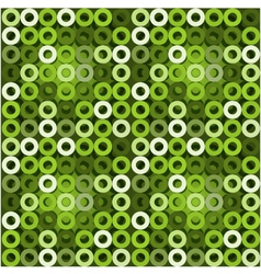 Seamless green background with circles EPS10 vector image vector image