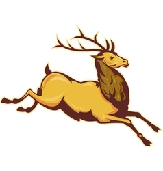 Stag deer or buck jumping vector