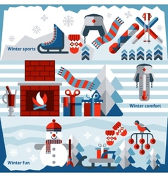 Winter banner set vector image