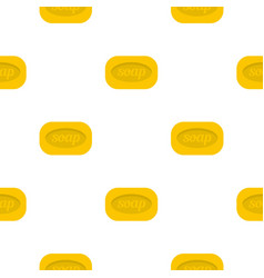 Yellow soap bar pattern flat vector