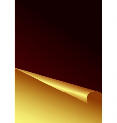 Golden paper background vector