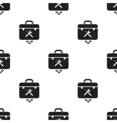 Toolbox icon in black style isolated on white vector