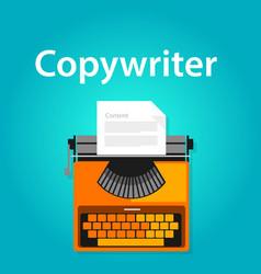 Copywriter jobs typing machine typewriter office vector