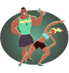 Fitness instructor and personal trainer vector