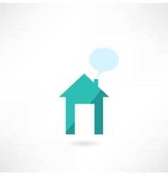 House with a message icon vector image