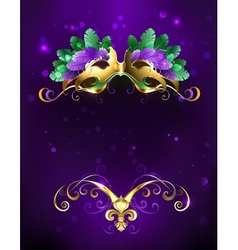Mardi gras mask of bright feathers vector