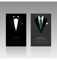 Card of the businessman vector