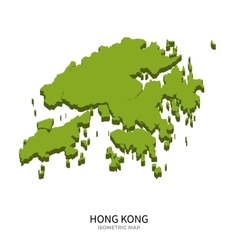 Isometric map of hong kong detailed vector