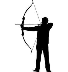 archer bow arrow vector image