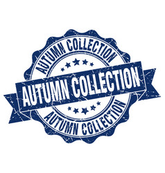 Autumn collection stamp sign seal vector