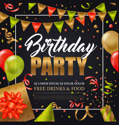 Birthday party poster vector