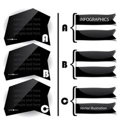 Black glossy panels presentations vector