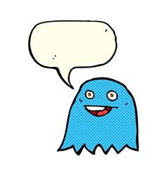 Cartoon ghost with speech bubble vector
