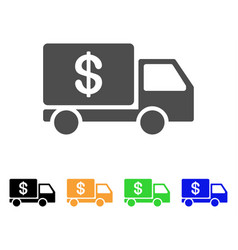 Cash delivery icon vector