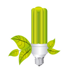 Color silhouette with fluorescent lamp with vector