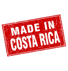 Costa rica red square grunge made in stamp vector